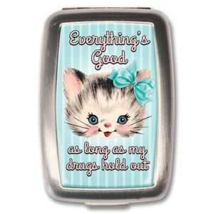 Accessories - Everything's Good - Pill Box - Adorable Kitty Cat!